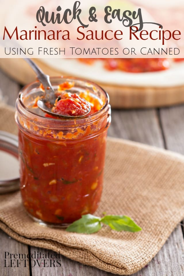 marinara sauce recipe using fresh tomatoes and herbs or canned ...