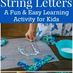 String Letters Alphabet Tutorial for Kids