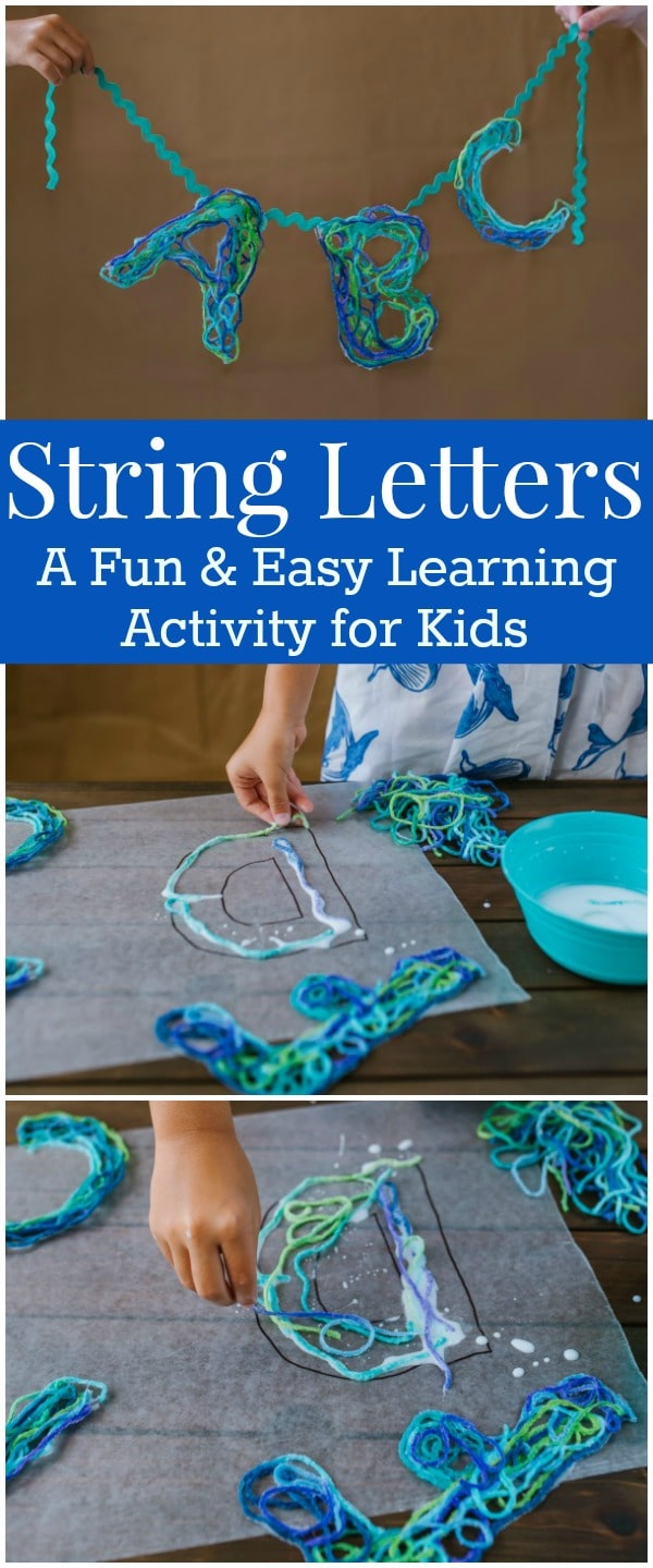 String Letters An Alphabet Craft With Game Ideas For Kids