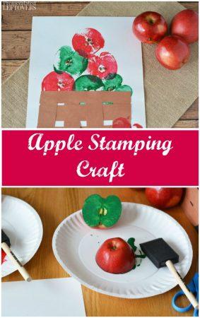 Fall apple stamping craft idea
