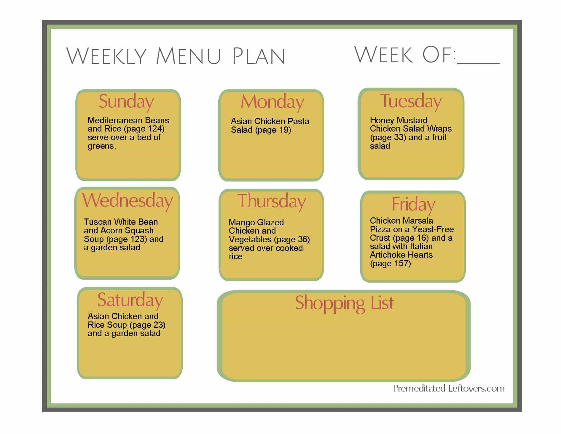 weekly-menu-plan-cubed-chicken-rice-white-beans