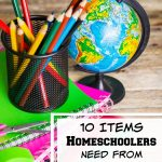 10 Items Homeschoolers Need from Back to School Sales- Homeschoolers can stock up and save money on these 10 necessities during back to school sales!