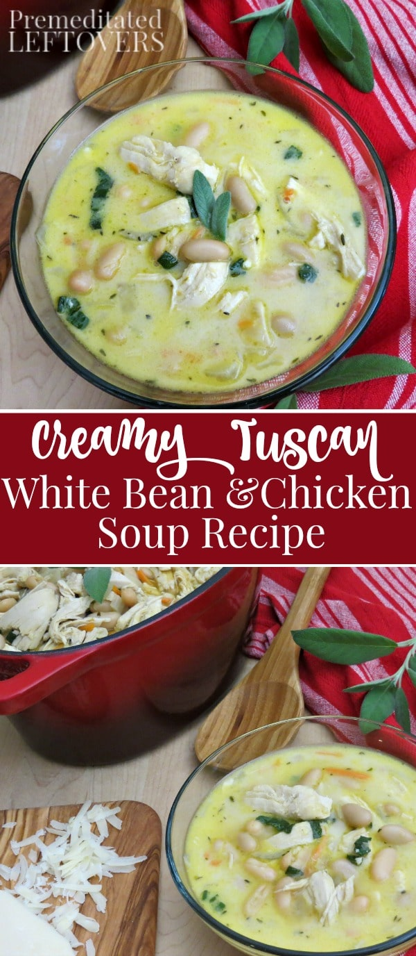 creamy tuscan white bean and chicken soup recipe