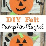 This easy DIY Felt Pumpkin Playset is perfect for on the go entertainment this fall. Kids will love coming up with silly faces to stick to their pumpkin!
