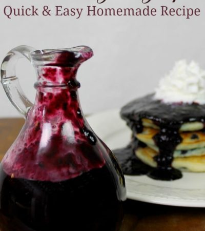 Delicious Blueberry Syrup Recipe