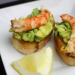 Grilled Herb Shrimp and Savory Avocado Appetizer