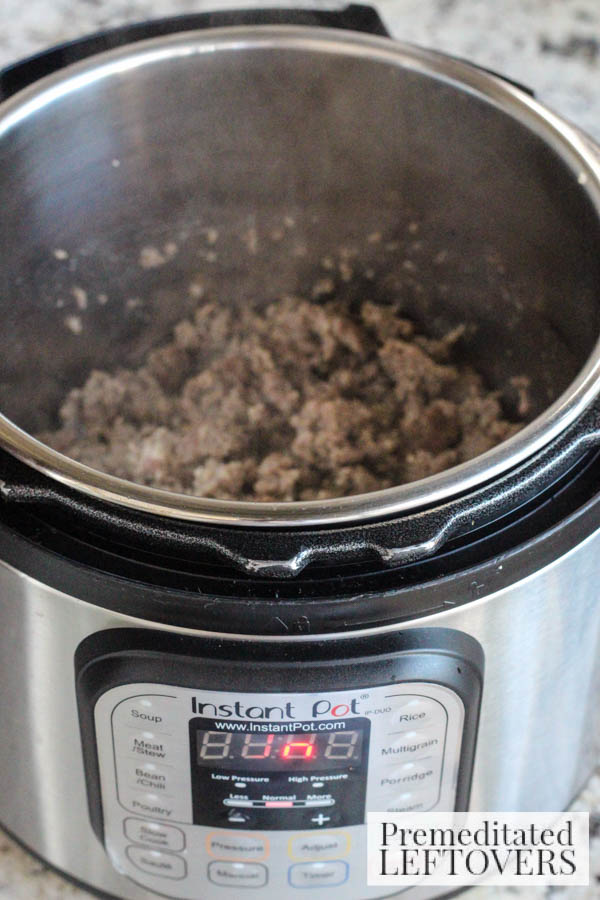 How to Make Sausage Gravy in an Instapot- brown sausage