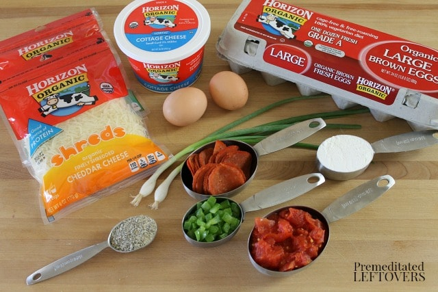 Ingredients for Pizza Egg Puffs