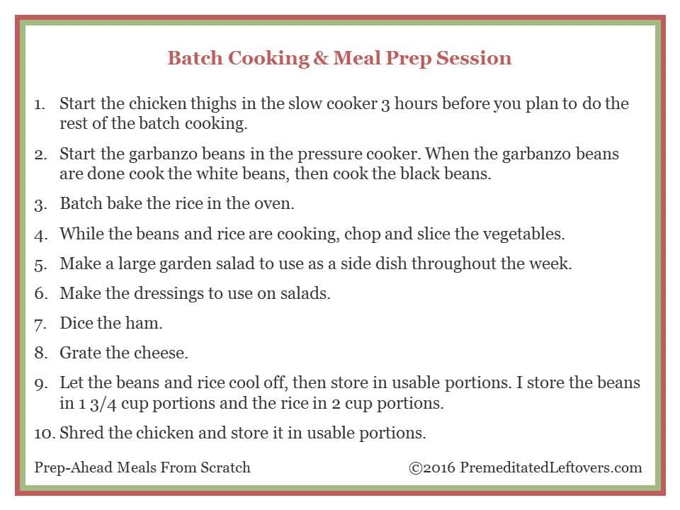 Meal Prep Session Shredded Chicken