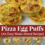 Pizza Egg Puffs Recipe - an easy make-ahead meal for breakfast or lunch!