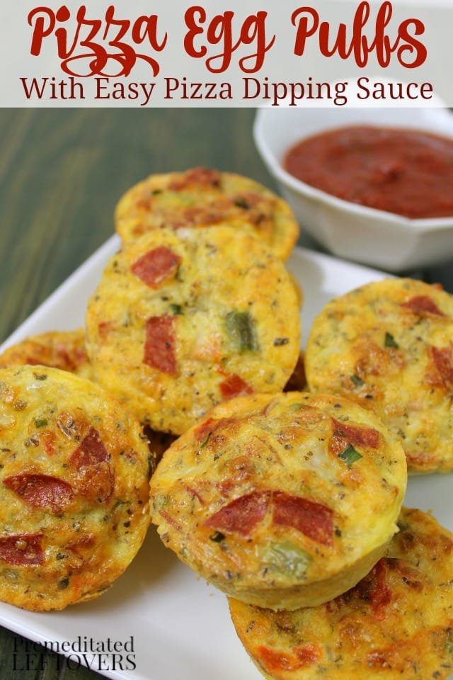 Pizza Egg Puffs Recipe and Pizza Dipping Sauce