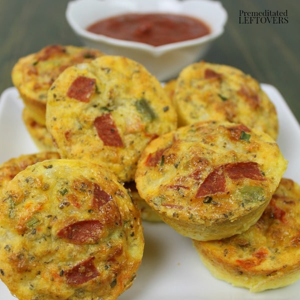 Pizza Egg Puffs Recipe with an Easy Pizza Dipping Sauce