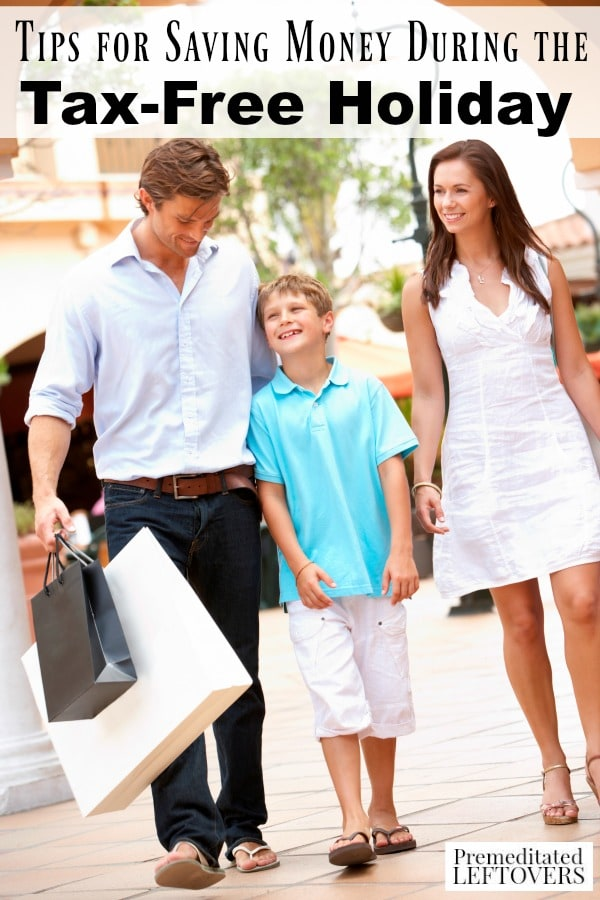 Tips for Shopping During the Tax Free Holiday for Back to School- If your state offers the tax free holiday, here are some tips to save money during it.