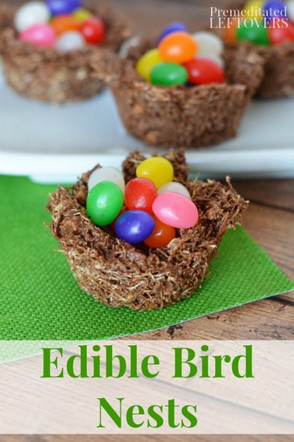 These Edible Bird Nests are a perfect no-bake recipe to make with kids. They can be used as a teaching tool for the letter N or a unit study on birds!