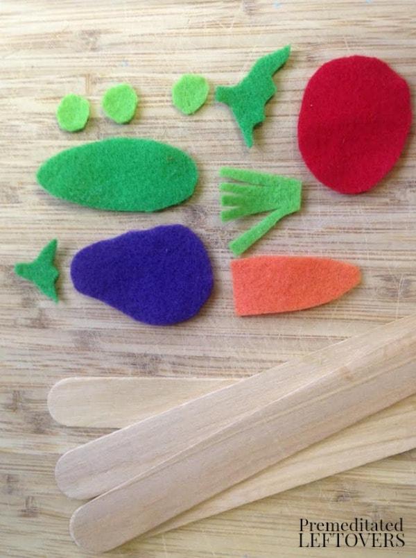 Felt Garden Markers- materials needed