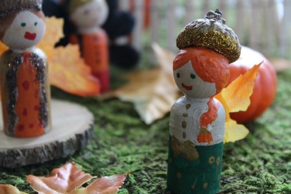How to Make Peg Doll Fairies- fairies in garden