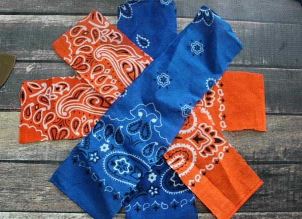 Homemade Pom Pom Tutorial- layer strips of fabric