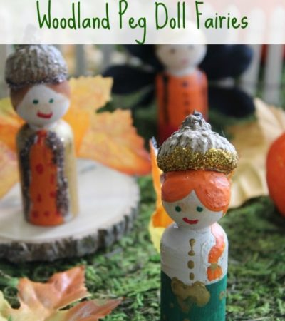 Here is a fun tutorial on How to Make Peg Doll Fairies. Add acorns and leaves to create a fall woodland theme to each little fairy in your garden.