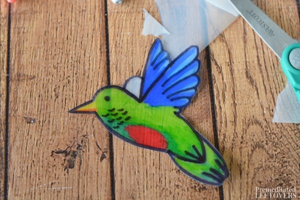 Hanging Hummingbird Sun Catcher- fill in details and punch hole to hang