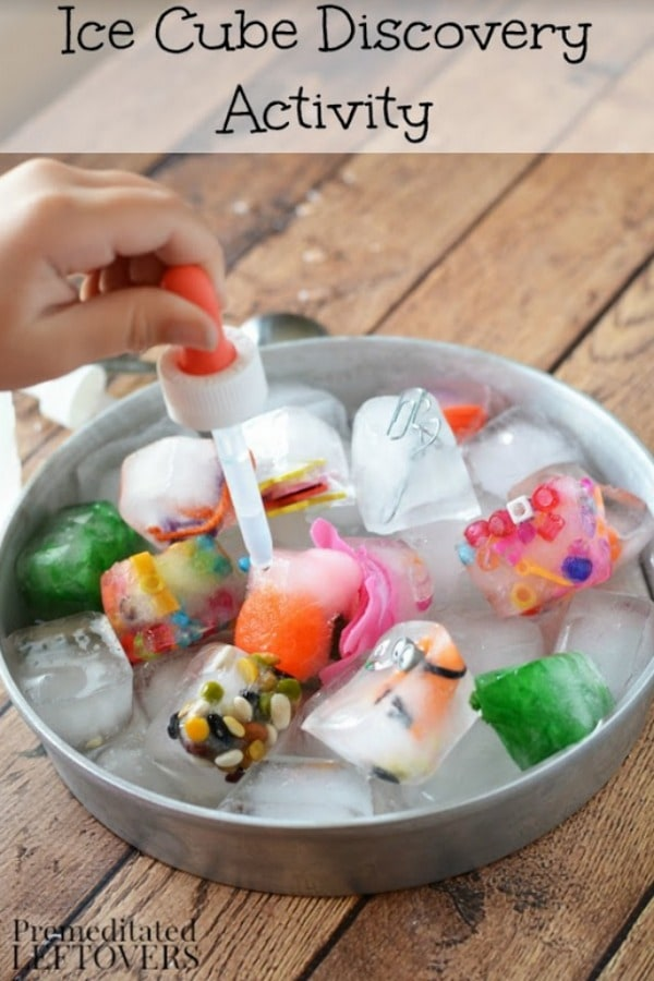 Grab an ice cube tray and a handful of trinketsfrom around your home,