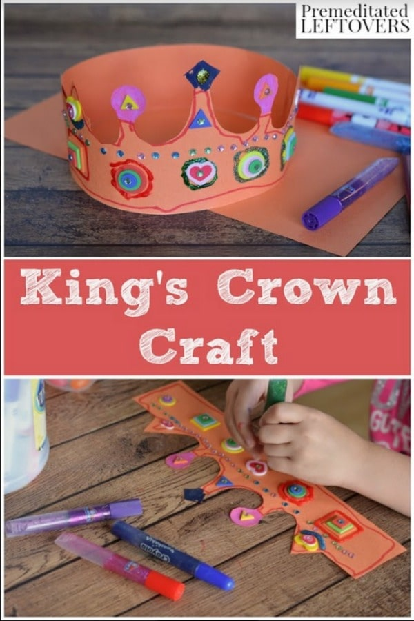 Let your kids be kings or queens for a day with this simple King's Crown Craft. These crowns make fun and frugal accessories for dress up and pretend play!