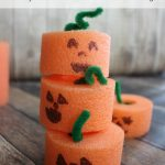 Pool Noodle Pumpkins and Activities for Kids