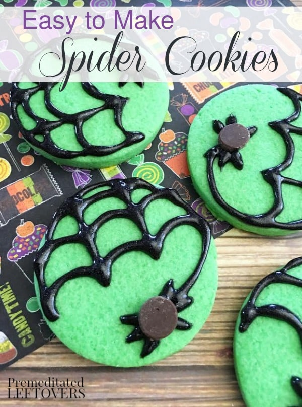 These Mint Spider Cookies are a perfect treat to make this Halloween. The recipe includes a mint sugar cookie base and step-by-step decorating instructions.