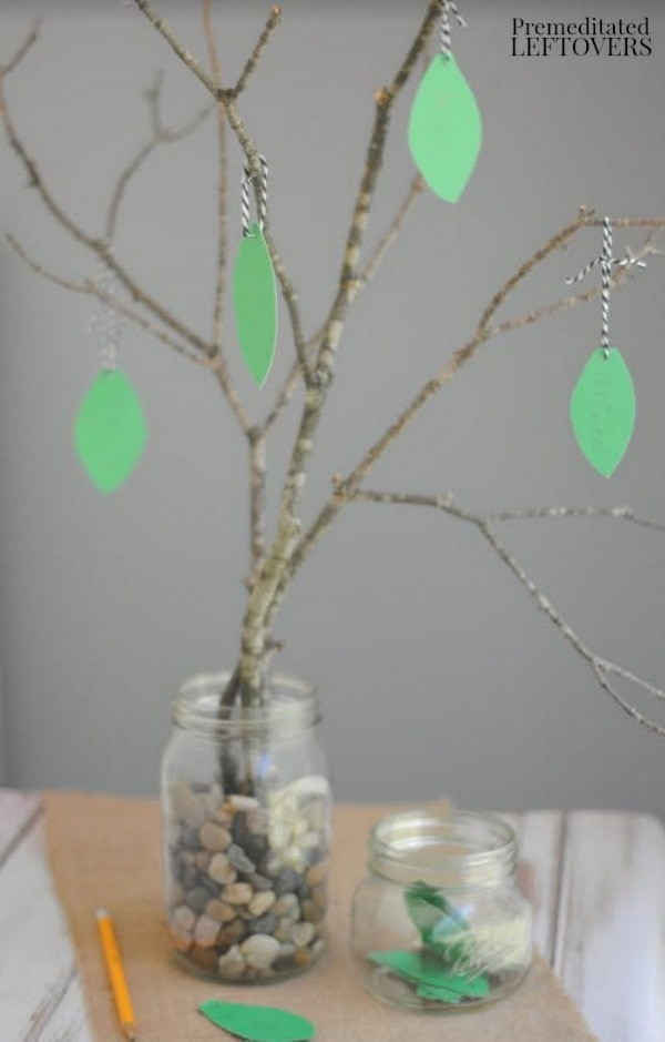 Gratitude Tree Activity- tree with leaves hanging