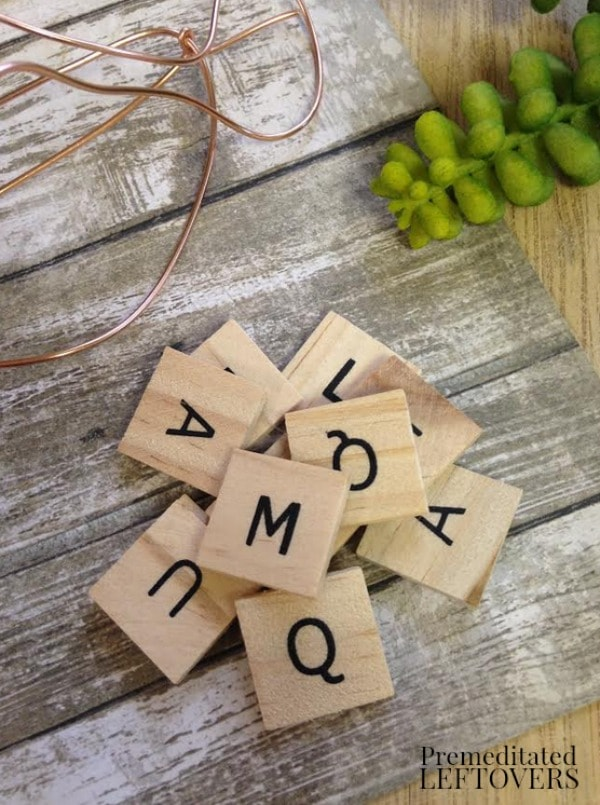 Wood Tile Letter Wine Glass Markers- materials
