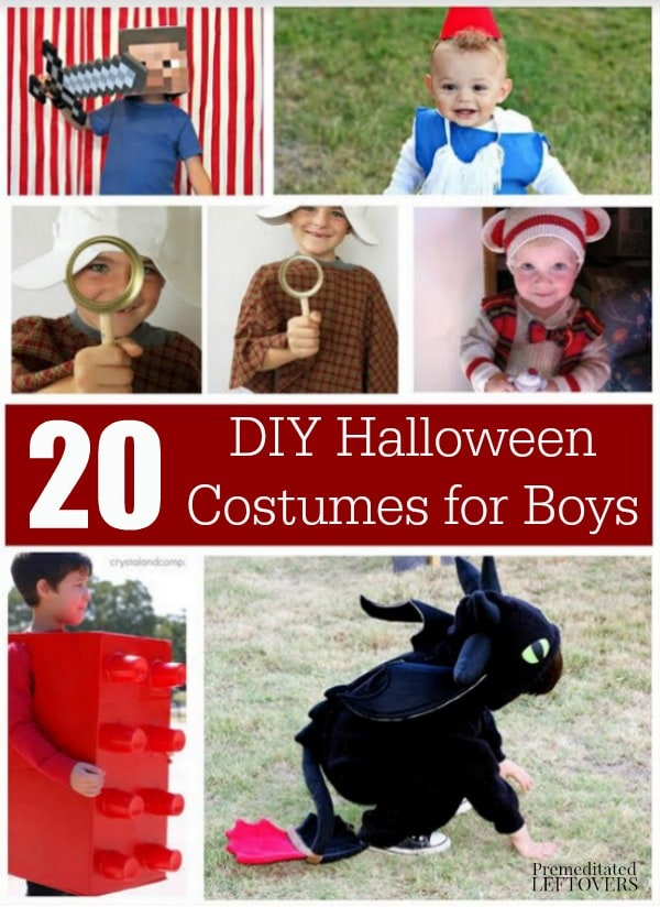 here are 20 diy halloween costumes for boys that you can easily make yourself these - Halloween Costumes That You Can Make Yourself