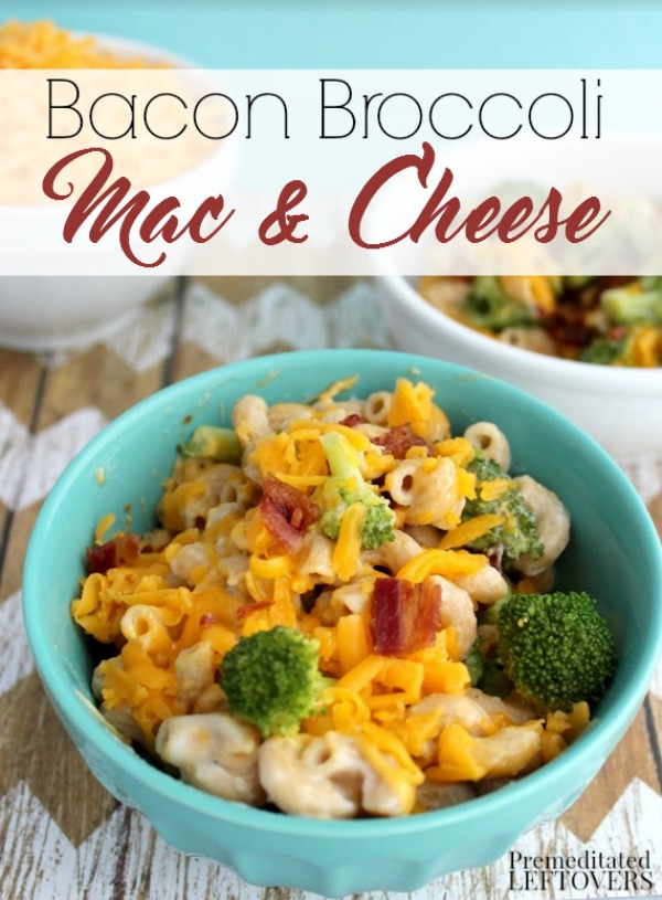 This Bacon Broccoli Mac and Cheese is a frugal way to turn plain mac and cheese into a meal. Your whole family will love the flavors in this easy recipe.
