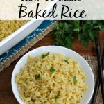 This Baked Rice Recipe makes a great base in casseroles. It is also an easy side dish to prepare and freeze for meals later.