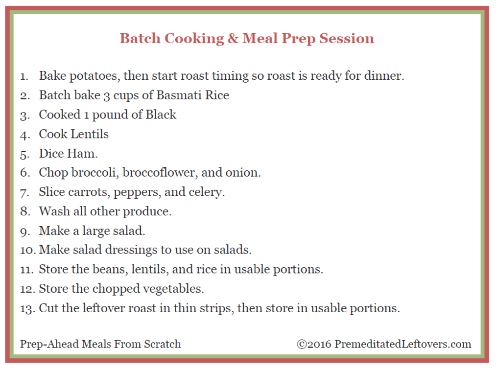 Batch Cooking and Meal Prep Session Using Roast and Ham