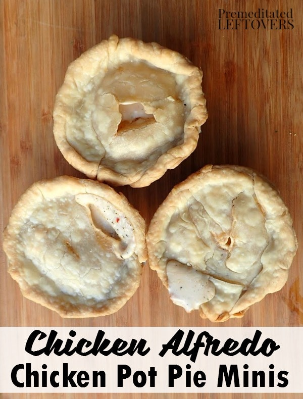 This delicious Chicken Alfredo Mini Pot Pie recipe is the ultimate match of two well-loved comfort foods. Make them for a meal your whole family will enjoy!