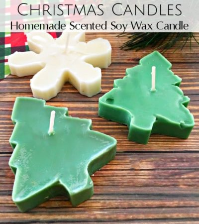 Follow this easy tutorial for Scented Cookie Cutter Christmas Candles. These homemade soy candles make perfect gifts for friends and family!