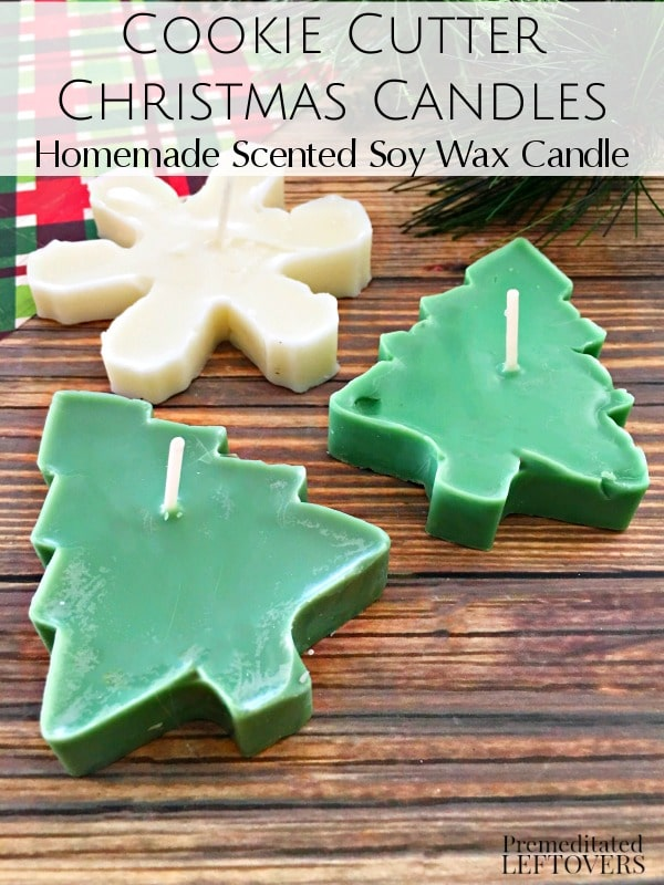 Follow the easy tutorial for these Scented Cookie Cutter Christmas Candles. These homemade soy candles make perfect gifts for friends and family!