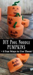 DIY Pool Noodle Pumpkins