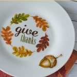 These DIY Decorative Fall Plates are a simple way to decorate your home or dinner table. You will love how easy they are to make with fall window clings.