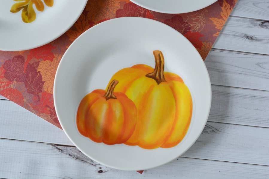 Decorative Fall Plates- completed