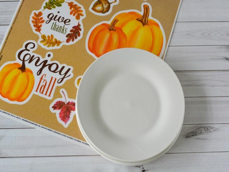 Decorative Fall Plates-materials