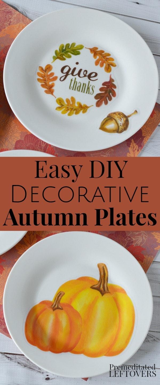 & Decorative Fall Plates Tutorial