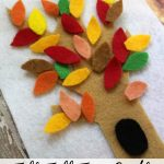 This Fall Felt Tree Craft is an easy project for kids as the autumn leaves start to fall. The pieces can be reused for play or glued on for decoration.