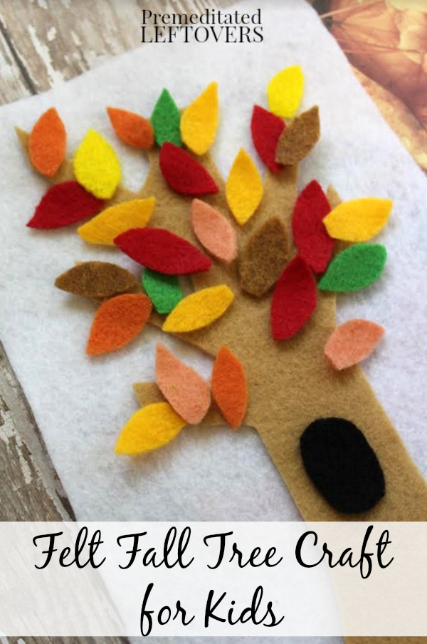 Fall Felt Tree Craft For Kids Tutorial