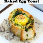 Herb Buttered Baked Egg Toast