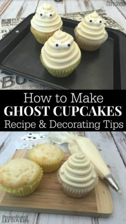 How to Make Ghost Cupcakes - Recipe and Decorating Tips