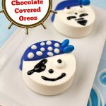 These Pirate Chocolate Covered Oreos are a fun and easy treat to make yourself. The recipe includes everything you need to create a crew of little pirates!