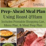 Prep-Ahead Meal Plan Using Roast and Ham