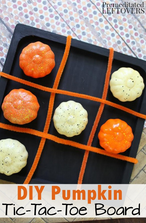 Pumpkin Tic Tac Toe Board For Kids Tutorial
