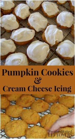 Pumpkin cookies Recipe with Homemade Cream Cheese Frosting