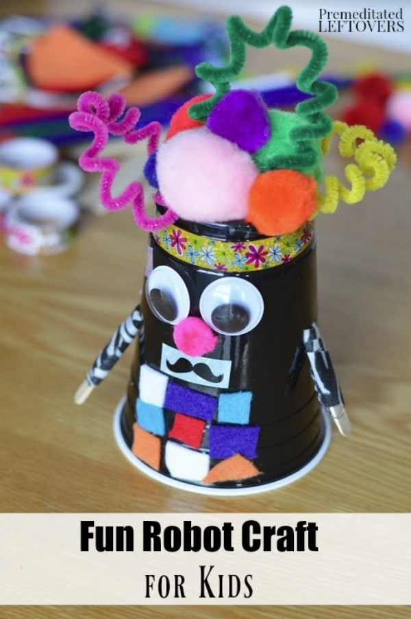 Kids can let their imaginations run wild with this Letter R Robot Craft. It is a fun and frugal way to teach the letter R with scrap craft supplies.